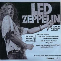 Cover Led Zeppelin - For Badgeholders Only (Live At L.A Forum, 6.23.77)