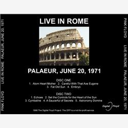 Cover Pink Floyd - Live in Rome Palaeur,June 20,1971