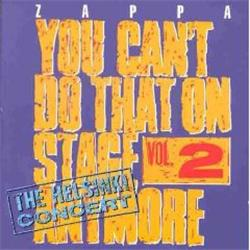 Cover Frank Zappa - You Can't Do That On  Stage Anymore, Vol.2