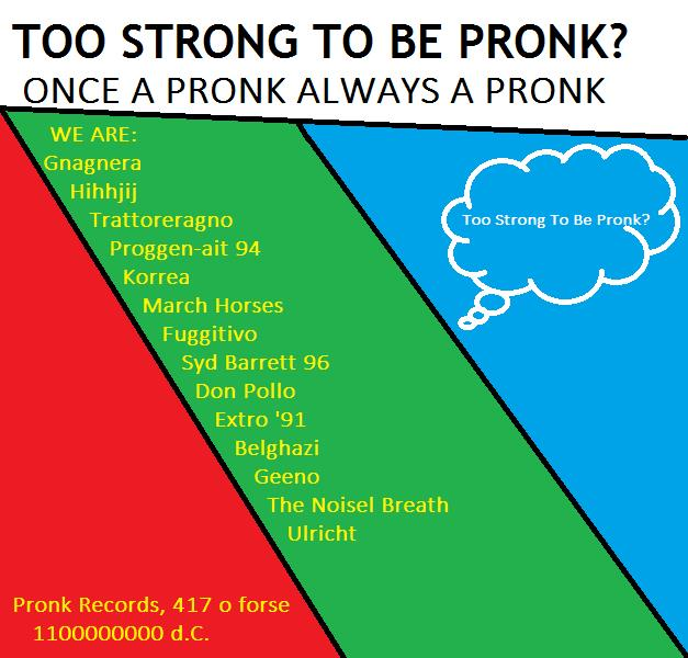 Copertina di Too Strong To Be Pronk? Once A Pronk Always A Pronk