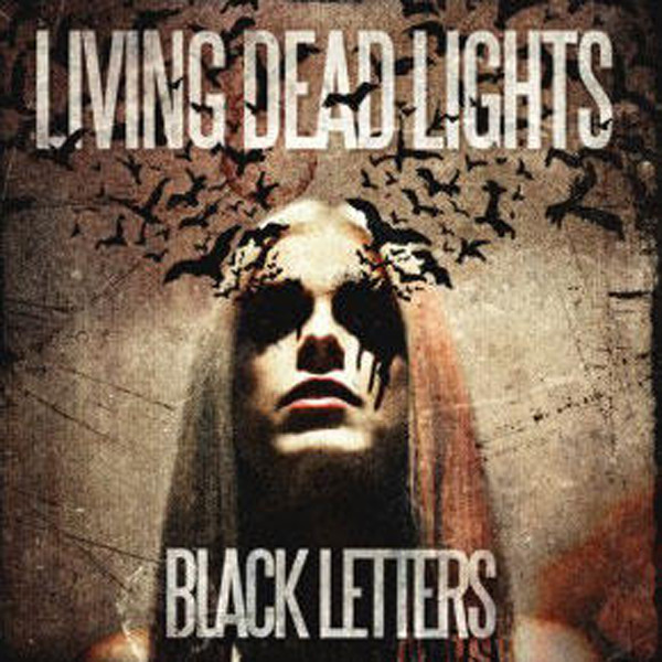 Copertina di Living Dead Lights Black Letters