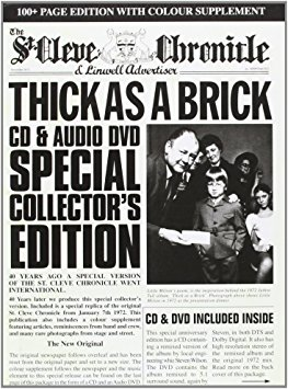 Copertina di Jethro Tull Thick As A Brick - CD & Audio DVD Special Collector's Edition