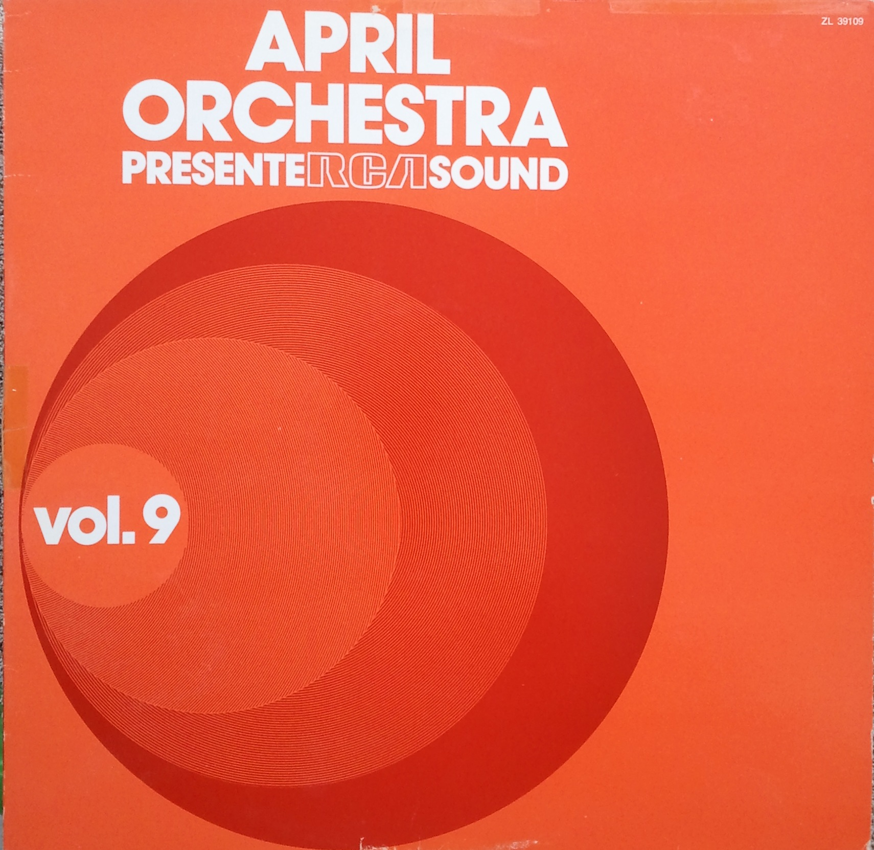 Copertina di Antonio Riccardo Luciani April Orchestra Présente Rca Sound Vol. 9